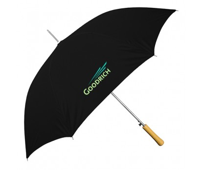 Personalized Black 48 inch Arc Auto-Open Wood Grain Handle Fashion Umbrellas