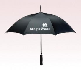 Personalized Black 58 inch Arc Value Golf Umbrellas