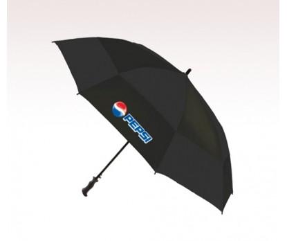 Personalized Black 68 inch Arc Totes Super Deluxe Premium Golf Umbrellas