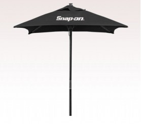 Personalized Black 7 inch Wood Square Market/Patio Umbrellas