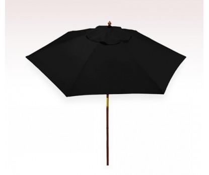 Personalized Black 7 ft x 6 Panel Configuration Vinyl Patio Umbrellas