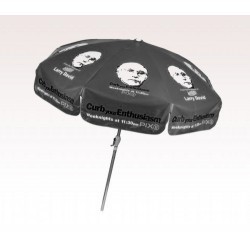Personalized Black 7.5 ft x 8 Panel Configuration Vinyl Patio Umbrella