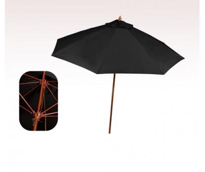 Personalized Black 9 ft x 8 Panel Market Umbrellas