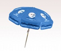 Personalized Cobalt Blue 7.5 ft x 8 Panel Configuration Vinyl Patio Umbrella