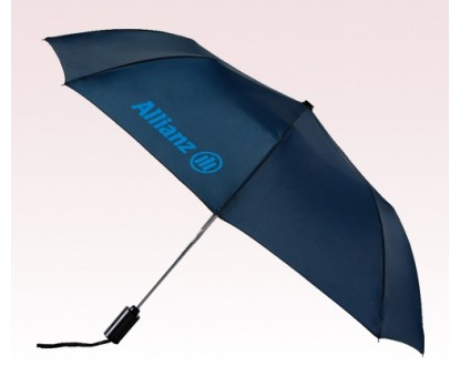 Personalized Navy Blue 43 inch Arc Mini Auto Folding Umbrellas