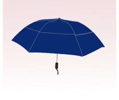 Personalized Navy Blue 46 inch Arc Vented Grand Practicality Umbrellas