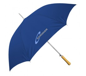 Personalized Navy Blue 48 inch Arc Auto-Open Wood Grain Handle Fashion Umbrellas