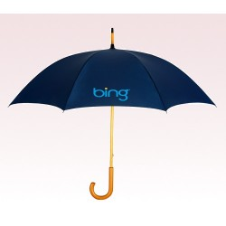 Personalized Navy Blue 48 inch Arc Commuter Fashion Umbrellas