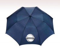 Personalized Navy Blue 58 inch Arc Folding Golf Umbrellas