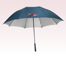 Personalized Navy Blue 62 inch Arc RAY defyer UV Protection Umbrellas