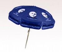 Personalized Navy Blue 7.5 ft x 8 Panel Configuration Vinyl Patio Umbrella