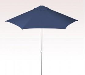 Personalized Navy Blue 7 ft x 6 Panel Configuration Vinyl Patio Umbrellas