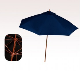 Personalized Navy Blue 9 ft x 8 Panel Market Umbrellas