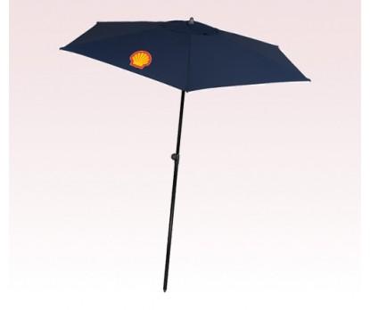 Personalized Navy Blue 98 inch Arc Square Market Umbrellas