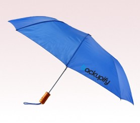 Personalized Royal Blue 43 inch Arc Windy Umbrellas