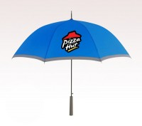Personalized Royal Blue 46 inch Arc Two Tone Umbrellas