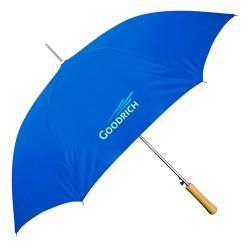 Personalized Royal Blue 48 inch Arc Auto-Open Wood Grain Handle Fashion Umbrellas
