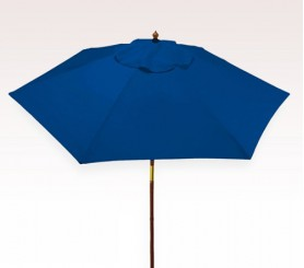 Personalized Royal Blue 7 ft x 6 Panel Configuration Vinyl Patio Umbrellas