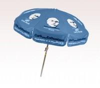 Personalized Royal Blue 7.5 ft x 8 Panel Configuration Vinyl Patio Umbrella