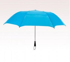 Personalized Sky Blue 58 inchArc Vented Economy Umbrellas