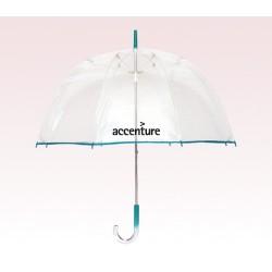 Personalized Teal 48 inch arc Bubble Lollipop Umbrellas