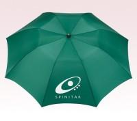Personalized Green 42 inch Arc Auto Folding Umbrellas