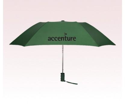 Personalized Hunter Green 43 inch Arc Automatic Open Quad Umbrellas