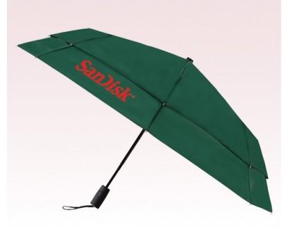 Personalized Hunter Green 43 inch Arc Vented Auto Open/Auto Close Umbrellas