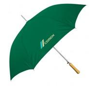 Personalized Hunter Green 48 inch Arc Auto-Open Wood Grain Handle Fashion Umbrellas