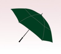 Personalized Hunter Green 54 inch Arc Windproof Mid-Size Golf Umbrellas