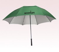 Personalized Hunter Green 62 inch Arc RAY defyer UV Protection Umbrellas