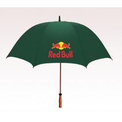 Personalized Hunter Green 64 inchArc Mulligan Golf Umbrellas