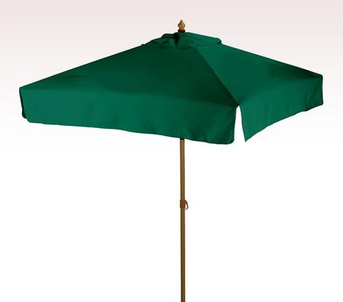 Aluminum 7 ft x 4 Panel Square Personalized Market Umbrella w/ 4 Colors