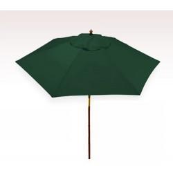 Personalized Hunter Green 7 ft x 6 Panel Configuration Vinyl Patio Umbrellas