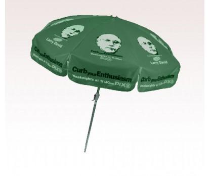 Personalized Hunter Green 7.5 ft x 8 Panel Configuration Vinyl  Patio/Cafe Umbrellas
