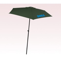 Personalized Hunter Green 98 inch Arc Square Market Umbrellas