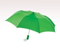Personalized Kelly Green 44 inch Arc Barrister Auto - Open Folding Umbrellas