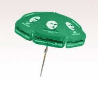 Personalized Kelly Green 7.5 ft x 8 Panel Configuration Vinyl Patio/Cafe Umbrellas