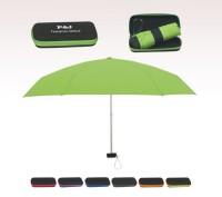Personalized Lime Green 37 Arc Telescopic Folding Travel Umbrella with Eva Case