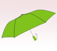 Personalized Lime Green 42 inch Arc Windproof Vented Auto-Open Folding Umbrellas