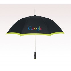 Personalized Lime Green 46 inch Arc Edge Two-Tone Umbrellas