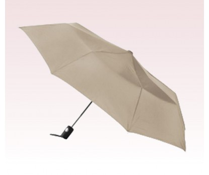 Personalized Khaki 42 inch Arc Totes Auto- Open Folding Umbrellas