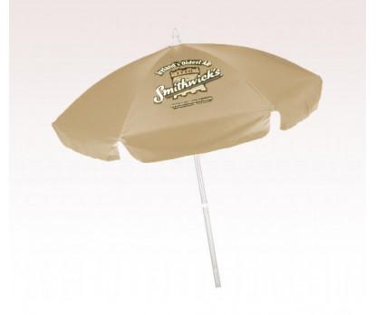 Personalized Khaki 6.5 Ft Vinyl Patio/ Cafe Umbrellas