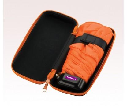 Personalized Orange 37 inch Arc Deluxe Folding Umbrellas