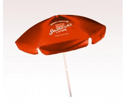Personalized Orange 6.5 Ft Vinyl Patio/ Cafe Umbrellas