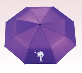 Personalized Purple 41 inch Arc Manual Folding Umbrellas