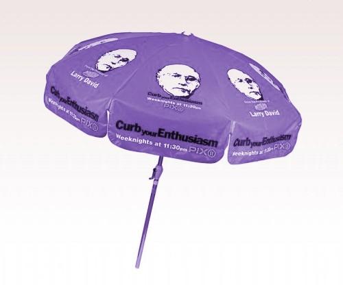 Personalized Purple 7.5 ft x 8 Panel Configuration Vinyl Patio Umbrella
