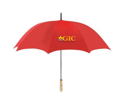 Personalized Red 60 inch Arc Golf Umbrellas