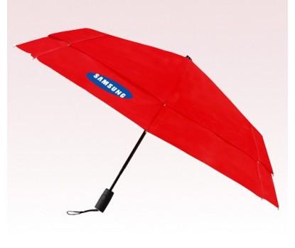 Personalized Red 43 inch Arc Vented Auto Open/Auto Close Umbrellas