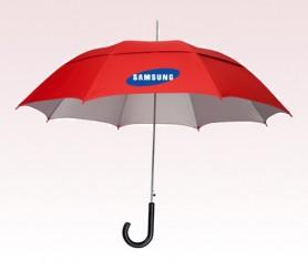 Personalized Red 48 inch Arc UVdefyer Umbrellas